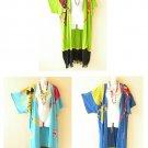 Batik Gecko Kimono Cardigan Duster Kaftan Hippy Long Jacket Cover up - up to 5X