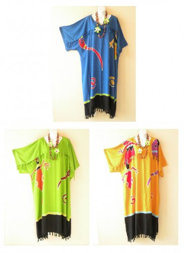 aa5414aca0 Batik Gecko Plus Kaftan Kimono Abaya Big Long Hippie Maxi Dress - 2X, 3X,  4X, 5X