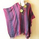 KB23 Tie Dye Stripes Plus Women Batik Kaftan Poncho Dolman Tunic Top - 1X to 4X
