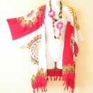 CB188 Batik Cardigan Duster Kimono Sleeve Hippy Jacket Coverup Top - XL 1X 2X 3X
