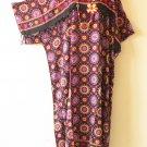KD151 Abstract Women Kaftan Kimono Rayon Tunic Plus Maxi Dress - 2X, 3X, 4X, 5X
