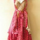 """M648 Reversible Vintage Silk Magic 30"""" Length Wrap Skirt Halter Tube Dress + DVD"""