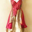 "M628 Cover Up Wear Vintage Silk Magic 30"" Wrap Skirt Halter Tube Dress + DVD"
