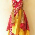 """M635 Reversible Vintage Silk Magic 30"""" Length Wrap Skirt Halter Tube Dress + DVD"""