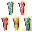 Floral Women Batik Kaftan Caftan Batwing Plus Dolman Maxi Dress - L, XL, 1X & 2X