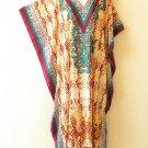 Maxi Floral Kaftan Plus Digital Viscose Batwing Caftan Dress KD151 - XL,1X & 2X