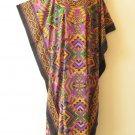 Maxi Kaftan Digital Printed Viscose Batwing Caftan Dress KD163 - 1X, 2X & 3X