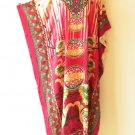 Kaftan Women Floral Viscose Batwing Caftan Abaya Long Dress KD195 - L, XL & 1X