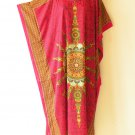 Red Poly Dolman Kaftan Viscose Batwing Caftan Maxi Dress KD196 - 2X, 3X & 4X