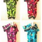 Bohemian Floral Kimono Batik Women Abaya Caftan Kaftan Maxi Dress - up to 5X
