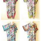 Hippie Floral Kimono Batik Women Plus Abaya Caftan Kaftan Maxi Dress - up to 5X
