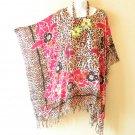 NWT Batik Pink Plus Size Caftan Kaftan Tunic Blouse Top - XL, 1X, 2X & 3X