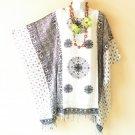 L3 White Black Caftan Maternity Poncho Kaftan Tunic Blouse Dolman Top S, M & L