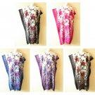 Floral Batik Boho Kaftan Caftan Batwing Plus Abaya Maxi Dress - 1X, 2X, 3X & 4X