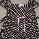 Rare Editions Brown Pink Polka Dot Dress Girl's Size 6X