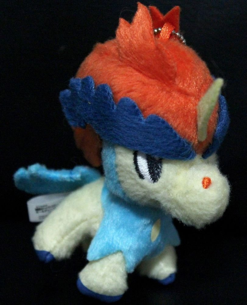 Banpresto Keldeo 3'' Mini Keychain Pokemon Plush Toy Doll + Free Card!