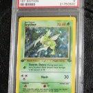 Pokemon Card First Edition Scyther 10/64 Jungle Set Holofoil PSA Graded 9
