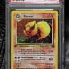 Pokemon Card First Edition Flareon 3/64 Jungle Set Holofoil PSA Graded 9 Mint!