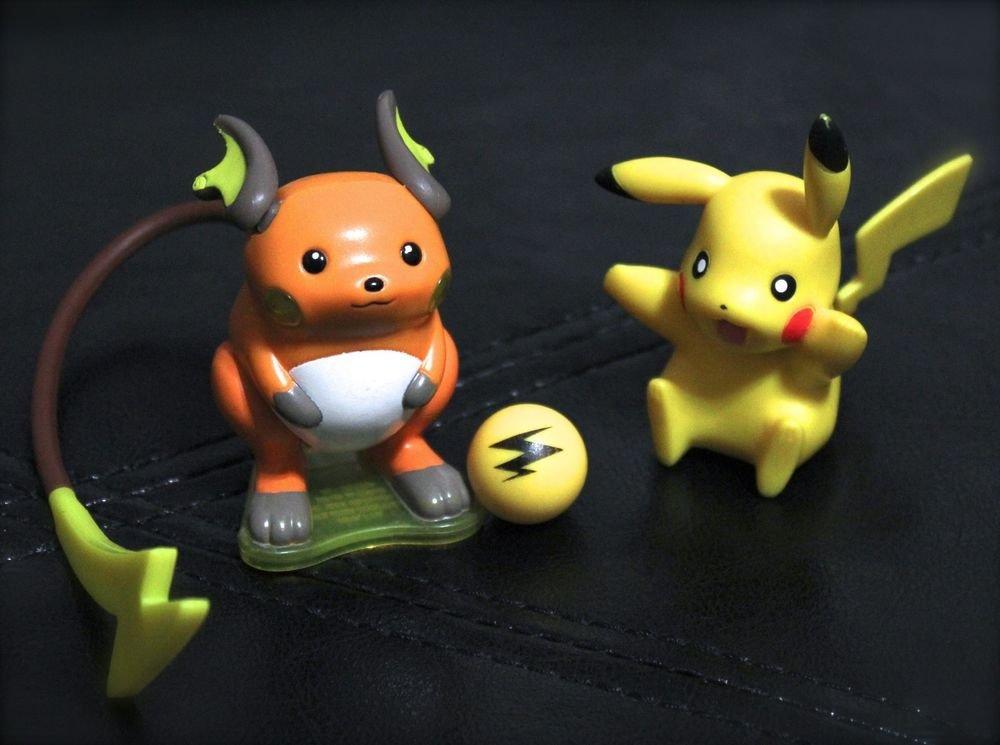 Pokemon Jakks Pikachu & Burger King Raichu 3'' Figures Collectibles +Free Cards!