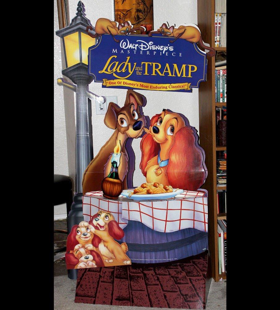 Rare Vintage Walt Disney Lady and The Tramp Movie Promo Standee