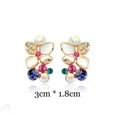 Swarovski Flower Earrings