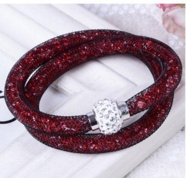 Stardust Bracelet Double Burgundy