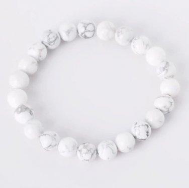 Natural stone bracelet White Turqoise