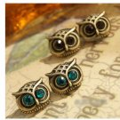 Blue / Yellow Owl earrings