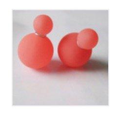 Trendy Double Pearl Earrings Watermelon