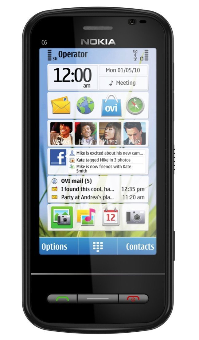 Nokia C6 Unlocked GSM Phone with Easy E-mail Setup,