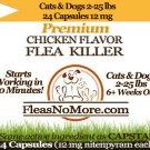 Flea Killer Kills Fleas Cats Dogs Generic CAPSTAR Nitenyram 24 Capsules 12 mg FREE US SHIPPING