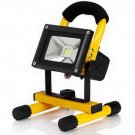 10W Portable Rechargeable LED Floodlight with Yellow Frame