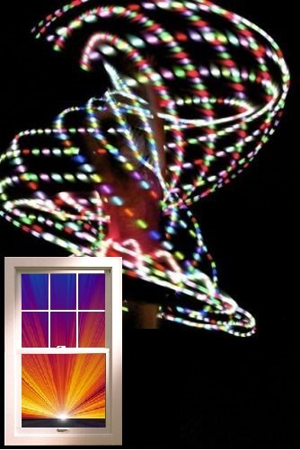 "VERY Light 12oz 36"" LED Hula Hoop 12 x Strobe Dragonfly 3 colors Batt & Charger"