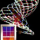 "VERY Light 12oz 36"" LED Hula Hoop 12 x Strobe Dragonfly 3 colors Batt & Charger"