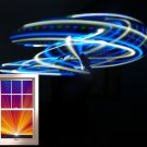 "21 LED Hula Hoop 36"" Blue and White strobing strobe Weighs 12oz +Charger/Battery"
