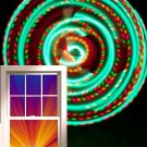 "VERY Light 12oz 36"" LED Hula Hoop 21 x Strobe Dragonfly Rasta Batt & Charger :)"