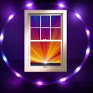 "36"" Ultra LIght 12 LED HOOP Purple/ UV Ultraviolet-Blacklight .75"" HDPE tube 12o"