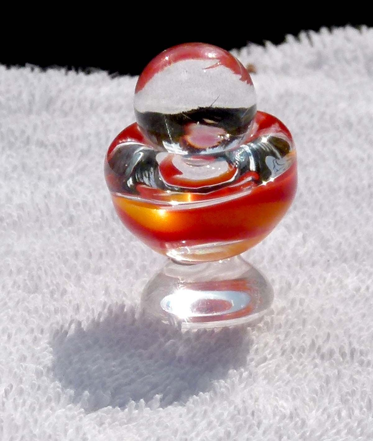 egg shaped  dish with marble lid
