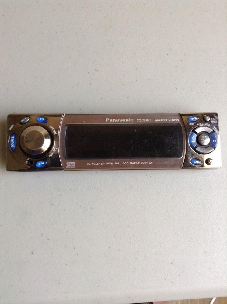 PANASONIC CQ-C8100U CD Replacement Faceplate