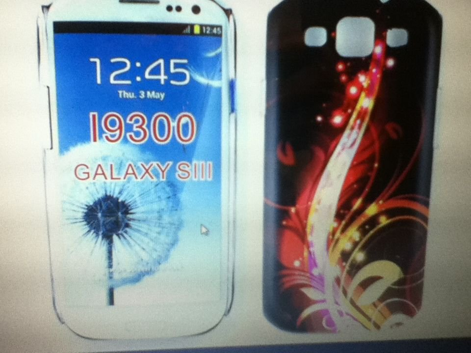 Samsung Galaxy S 3 S3 S III SIII i9300 Case Cover Fire Work Design Gummy CaseHot