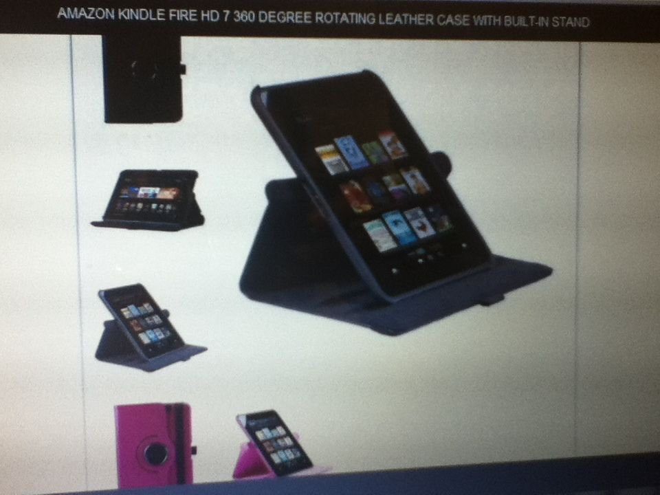 Amazon Kindle Fire HD 7 360 Degree Rotating Leather Case With Built-in Stand HOT