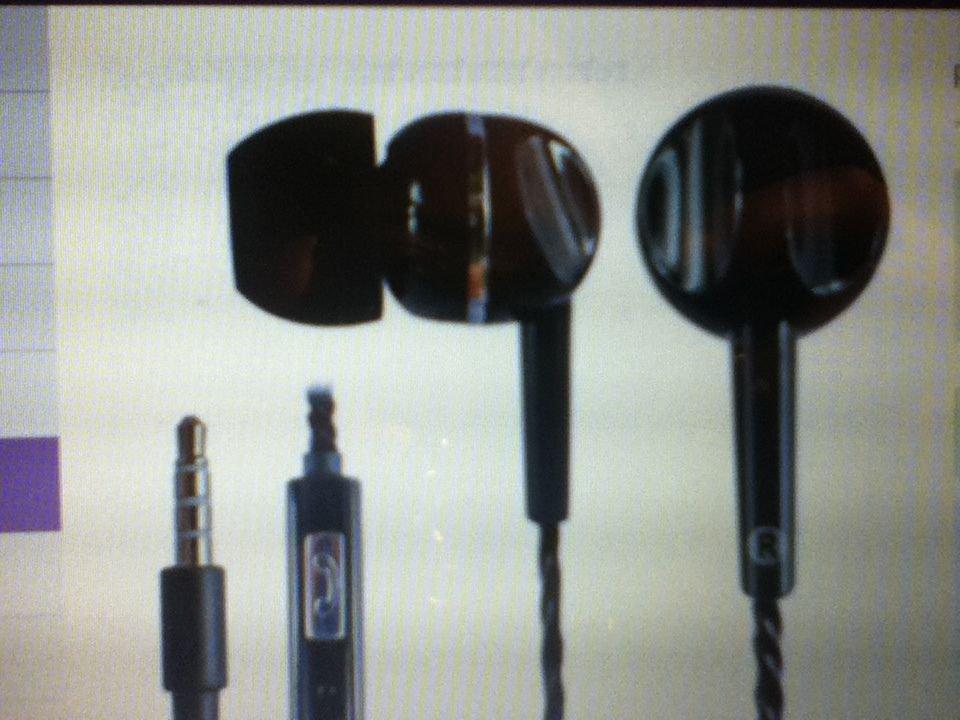KIK 2 Stereo Earphone Headset with Mic Universal Hands Free High Quality Black