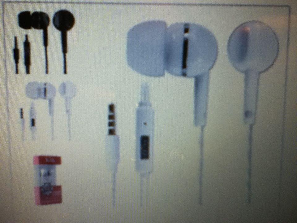 KIK 2 Stereo Headset with Mic Volume Control  Ear Phone Head Set WHITE (U.S.A)