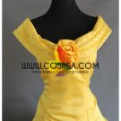Cosrea Beauty And Beast Belle Light Gold Satin Cosplay Costume