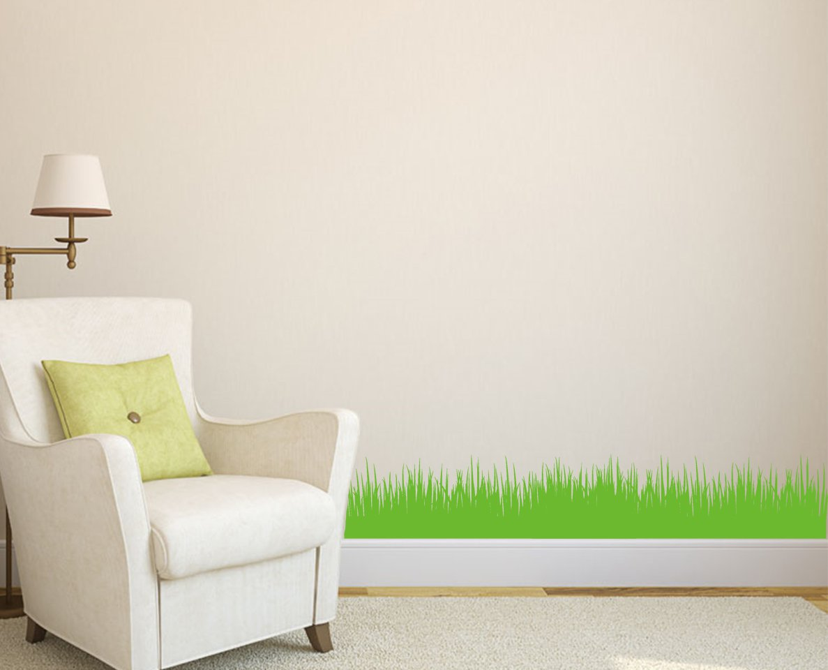 Wall Art Stickers For Bathroom Wall Grass Art Diy Home Wall Sticker Wall Decal