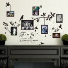 Multi Size Photo Frames with Birds & Quotes Wall Art VINYL Stickers