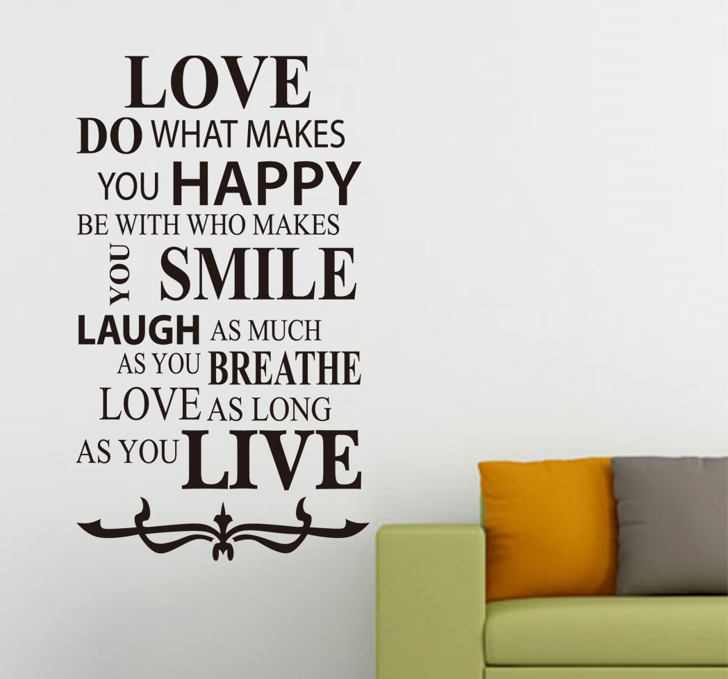 Love Inspirational Quotes Art Vinyl Wall Sticker, Home Wall Decal