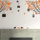 Large Tree Branches with Birds and Photo Frames Wall Art Vinyl Sticker