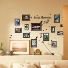 Multi Size Photo Frames with Birds, DIY Wall Art Vinyl Stickers
