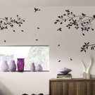 Large Tree Branch and Birds Art Wall Vinyl Stickers, DIY Wall Decor